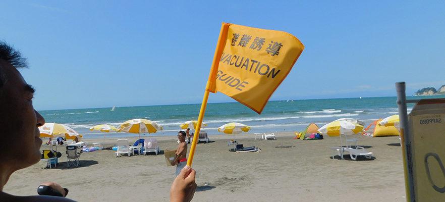 津波避難訓練が行われました(2)
