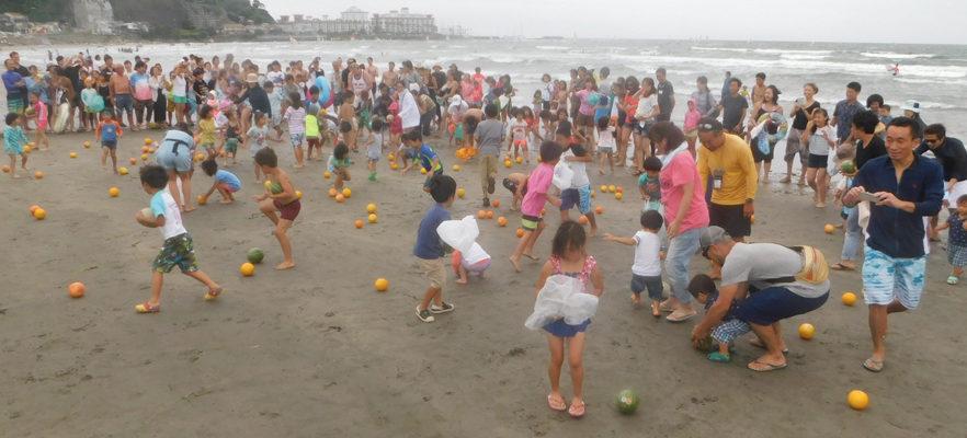2017材木座海水浴場スイカ流し(5)幼稚園の部スタート